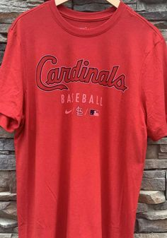 Nike St Louis Cardinals Red Early Work Short Sleeve Fashion T Shirt - 17321142 Cardinals Baseball, St Louis Cardinals, Work Shorts, Great Books, Nike, T Shirt, Shopping, Fashion, Supreme T Shirt