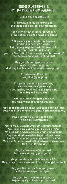 irish blessings and sayings | irish blessings and patrick 640 x 1747 293 kb jpeg credited to ...