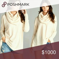 """Cowl Neck Sweater This is a NWT oversize cowl neck sweater pullover. Color is called oatmeal. Materials are 55%cotton, 30%acrylic & 15%rayon. ⚜Please see my """"reasonable offers"""" listing at the top of my page before submitting an offer⚜Thank you😊 Fashionomics Sweaters Cowl & Turtlenecks"""
