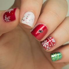 1000+ images about Christmas Nails on Pinterest | Christmas nails, Christmas nail art and Christmas tree nails