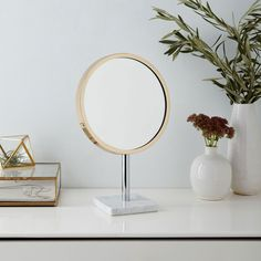 West Elm - Marble Base Vanity Mirror.