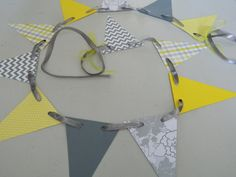 Yellow and Gray Paper Garland Chevron Paper Bunting Birthday Garland Photo Prop Party Decorations Bridal Shower Decor Baby Shower Decoration on Etsy, $11.00 AUD