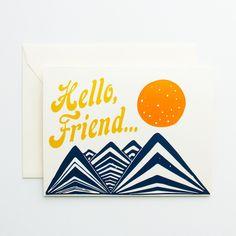 Hello Friend Card - Native Bear