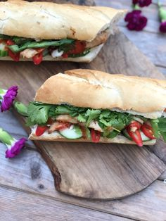 The Little Viet Kitchen Cookbook and Lemongrass Chicken Banh Mi |