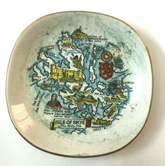 Old Porcelain England RARE Hand Paint Plate Weatherby Hanley Royal Falcon Ware   #ArtDeco