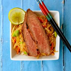 Grilled Teriyaki Steak and Noodle Salad. Find this recipe and more at www.sundaysuppermovement.com. #SundaySupper #WeekdaySupper #beef