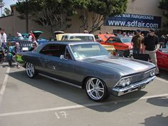 #BecauseSS 66 chevelle rushforth split 5 super spoke wheels satin brushed finish silver red grey