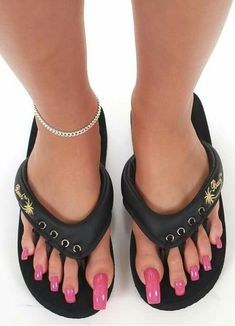 Pink Pedicure, French Pedicure, Flip Flops, Kicks, Pedicures, Sandals, Sneakers, Strong, Shoes