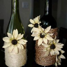 Love the way bottles were decorated