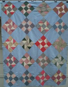fun nine patch layout will put this in my everday patchwork quilt