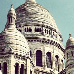 Sacre-Coeur is ready for its close-up.  Photo courtesy of lepetitparis on Instagram.
