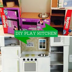The easiest DIY play kitchen that you can do in a day!