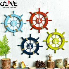 Mediterranean Nautical Helm, Ship Wheel Home Decor - 4 colors available