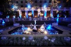 Image result for royal blue and purple wedding decorations