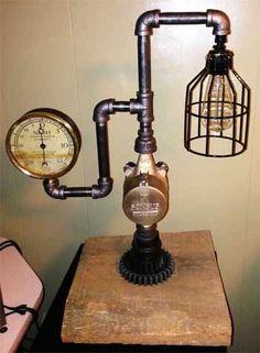 steampunk diy | Steampunk Lamp DIY Assembled | DIY projects #steampunk #fashion #ideas
