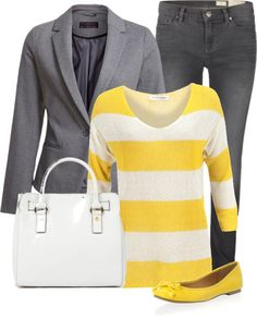"""No Bumble Bee Yellow"" by chelseagirlfashion ❤ liked on Polyvore"