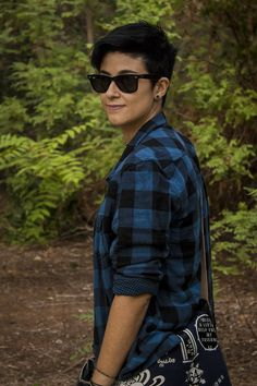 """Someone said, """"Damn gotta love a Butch."""", AND I've got to agree. Butch Fashion, Queer Fashion, Tomboy Fashion, Androgynous Women, Androgynous Fashion, Girl Short Hair, Short Girls, I Second That Emotion, Tomboy Look"""