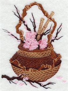 Machine Embroidery Designs at Embroidery Library! - Cherry Blossoms