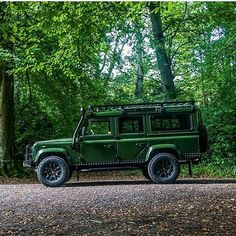 Land Rover Defender 110. That green! More
