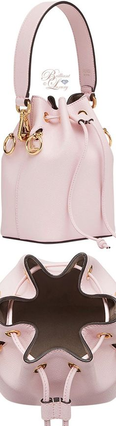 Fendi Bucket Mini Bag Fendi pink bucket mini bag - My Accessories World Stylish Handbags, Fashion Handbags, Tote Handbags, Purses And Handbags, Fashion Bags, Fashion Accessories, Fendi Purses, Pastel Fashion, Beautiful Bags