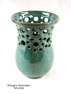 Wheel-thrown pottery vase