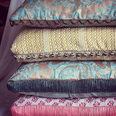 #Repost from @maryjanemccartydesign  #Fortuny #Fabric #Pillows