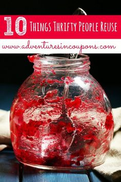 Do you reuse items in your home? I do! Check out these 10 Things Thrifty People Reuse to save yourself some cash!