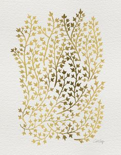 Gold Ivy Art Print by Cat Coquillette | Society6