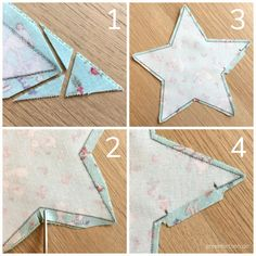 Sewing Christmas stars - With these 5 tricks they will be perfect! : Sewing Christmas stars – With these 5 tricks they will be perfect! Sewing Machine Projects, Sewing Projects For Beginners, Sewing Tutorials, Christmas Sewing Projects, Christmas Crafts, Christmas Stars, Christmas Star Decorations, Christmas Wreaths, Christmas Ornaments