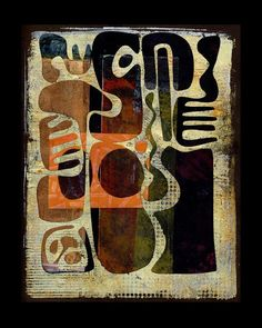 Michèle Brown Artist - The Old Cells Studio: larger collage. Abstract art