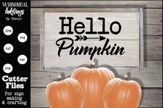 Hello Pumpkin #SVG Quote #SVG Cut File #vector #typography #svg #cricut #silhouette Hello Pumpkin SVG Cut File Cricut, Svg Cuts, Filing, Paper Cutting, Cutting Files, Crafts To Make, Craft Projects, Pumpkin, Silhouette