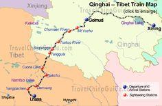 Tibet Train: Schedule, Qinghai-Tibet Railway, Map, Stations