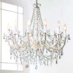 Kronleuchter Lüster Lampe Weiß Antik Vintage Landhaus Shabby Pendelleuchte  Decke In Möbel U0026 Wohnen, Beleuchtung, Deckenlampen U0026 Kronlu2026