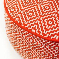 Home Republic Diamond Tangerine - Soft Furnishings Ottomans - Adairs online Orange Home Decor, Home Republic, Orange House, Soft Furnishings, Game Room, Louis Vuitton Damier, Diamond, Pattern, Red