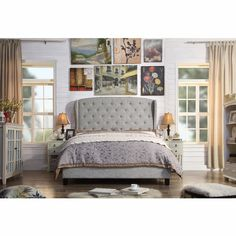 Found it at Wayfair - Mariabella Queen Upholstered Panel Bed