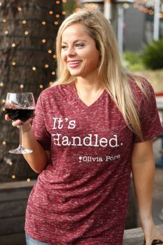 "I's Handled- Olivia Pope It is simple cute Tee with famous quote of ""It's…"