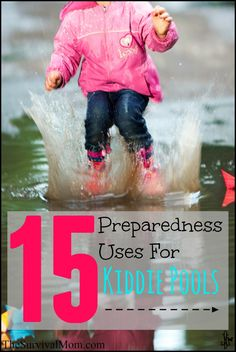 Kiddie pools have multiple uses for the prepper! Check out our list. | via www.TheSurvivalMom.com