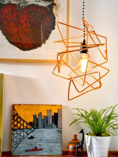 Create Your Own Modern Copper Pendant Light - Bright Ideas for DIY Lighting Projects  on HGTV