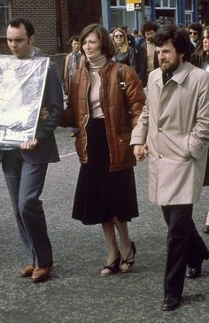 Marcela Sands, sister of Bobby Sands M., hunger-striking inmate of the Maze Prison, walks hand in hand with his election agent Owen Crow during a protest rally in Northern Ireland in April (AP Photo/Peter Kemp) Date: County Cork Ireland, Galway Ireland, Bobby Sands, Northern Ireland Troubles, Irish Republican Army, Ireland Vacation, Ireland Travel, Michael Collins, Irish Cottage