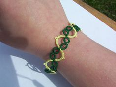 tatted bracelet lace bracelet tatted lace bracelet by MamaTats Use coupon code PINTEREST for 10% off!