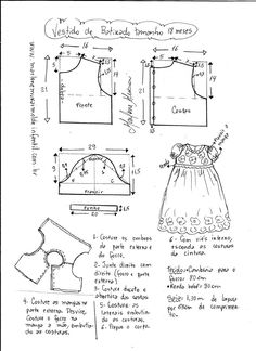 New Clothes Patterns For Women Girl Doll - Diy Crafts Sewing Kids Clothes, Baby Doll Clothes, Sewing For Kids, Baby Sewing, Kids Dress Patterns, Baby Clothes Patterns, Clothing Patterns, Baby Dress Tutorials, Diy Dress