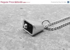 "Nothing says ""happy mothers day"" like a cow bell!!!  LOL Mothers Day Sale Cowbell Necklace Sterling by GirlBurkeStudios, $22.50"