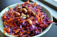 thai cabbage slaw with green curry vinaigrette