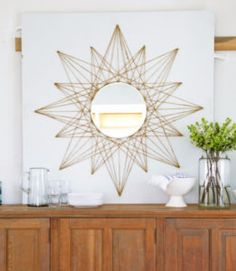 DIY String Art Projects - Sunburst String Art - Cool, Fun and Easy Letters, Patterns and Wall Art Tutorials for String Art - How to Make Names, Words, Hearts and State Art for Room Decor and DIY Gifts - fun Crafts and DIY Ideas for Teens and Adults http://diyprojectsforteens.com/diy-string-art-projects