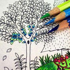 ― 🌻Jardim Secreto Love 💗さん( 「Pessoal olhem que combinação legal !vamos nos inspirar? Essa dica é da nossa querida…」 Secret Garden Coloring Book, Coloring Book Art, Colouring Pages, Adult Coloring, Coloring Tips, Colored Pencil Tutorial, Colored Pencil Techniques, Johanna Basford Coloring Book, Coloring Tutorial
