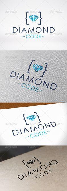 Code Diamond  - Logo Design Template Vector #logotype Download it here: http://graphicriver.net/item/code-diamond-logo-template/7191809?s_rank=892?ref=nexion