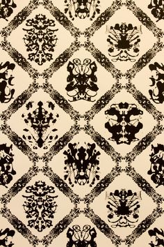 Rorschach wallpaper. interesting for the file cabinets or inside a bookcase