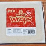 Paleo Wraps™ 1 Pack (7 Wraps) (Gluten Free, Raw, Vegan, Low Carb) - contains organic coconut meat and coconut water.