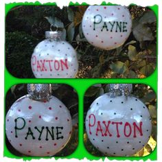 Super easy (and cheap) Christmas ornaments!! Plastic ornaments (these are from Michaels) filled with cotton balls!