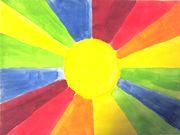 Pääväri-/väliväriaurinko - pää- ja välivärit Colour Wheel, Arts And Crafts, Drawings, Classroom, Painting, Colors, School, Ideas, Art